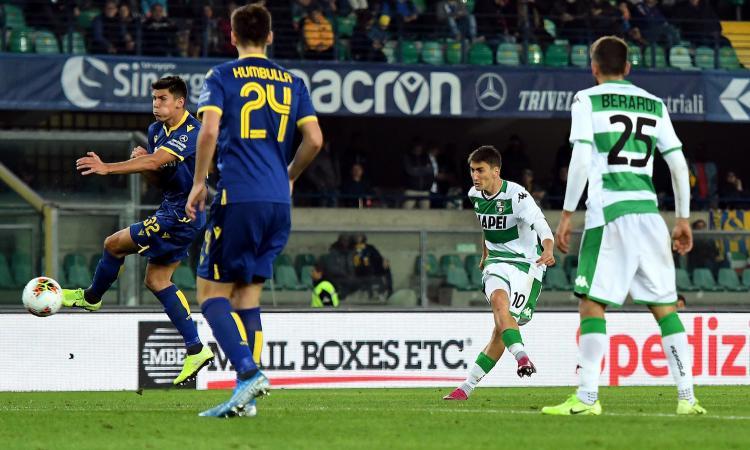 Amrabat alla Pogba, ma vince il Sassuolo con una perla di Djuricic: Verona, come ti salvi se non segni mai?