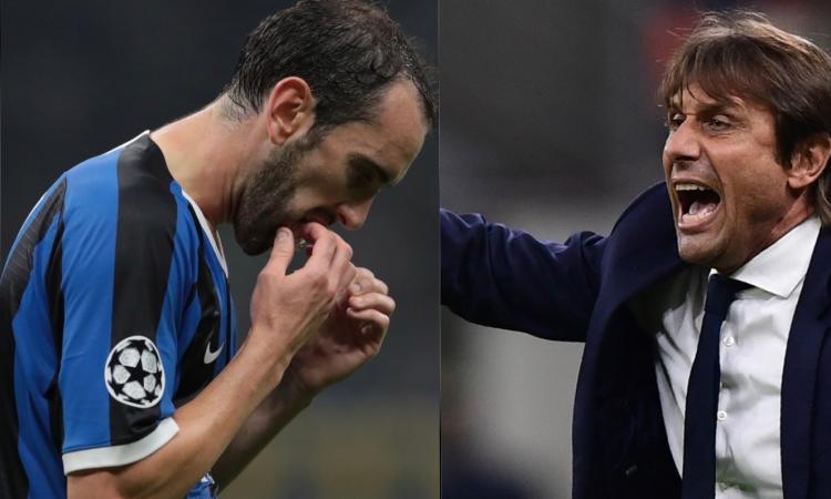 Inter: Godin non funziona nella difesa a 3, ma Conte non cambia modulo