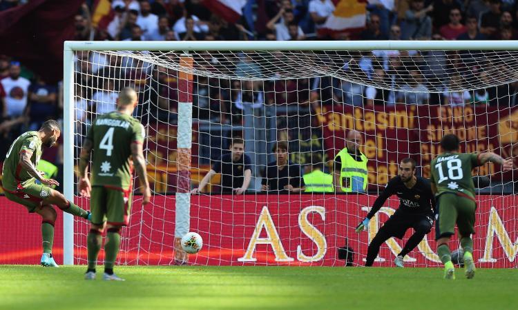 Roma-Cagliari 1-1: il tabellino