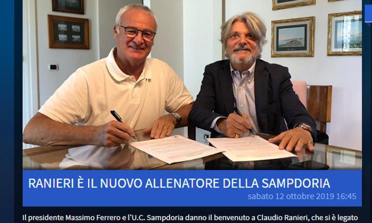 Ranieri: 'Giocherà chi dimostra di voler salvare la Samp. Che scherzo debuttare contro la Roma, su Quagliarella...' VIDEO