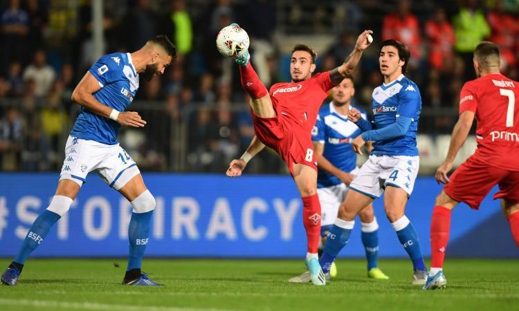 Tra Brescia e Fiorentina un pareggio triste, solo il futuro è radioso con Tonali e Castrovilli