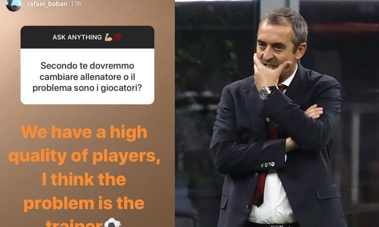 Il figlio di Boban silura Giampaolo: 'Il problema è l'allenatore, vedremo cosa succederà...'