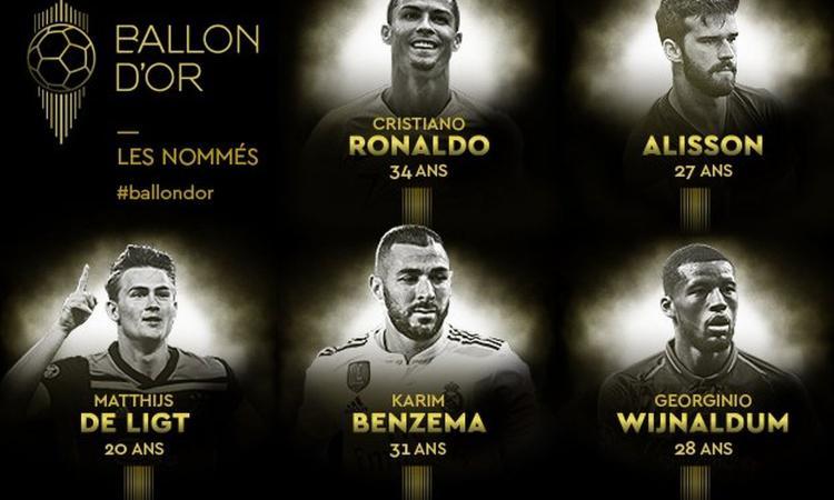Pallone d'Oro 2019, le nomination: ok Ronaldo e Messi, ci sono Koulibaly e De Ligt. Out Modric e Neymar