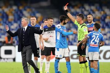 giacomelli, arbitro, espelle, ancelotti, napoli, atalanta, 2019/20