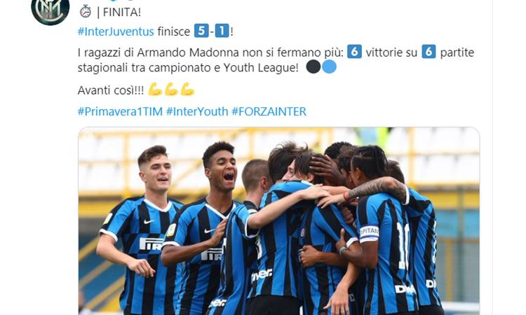 L'Inter ha vinto il primo Derby d'Italia: la Primavera devasta 5-1 la Juve