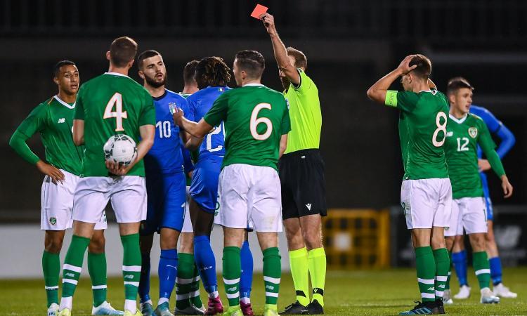 Kean entra e si fa espellere: l'Italia Under 21 non va oltre lo 0-0 con l'Irlanda