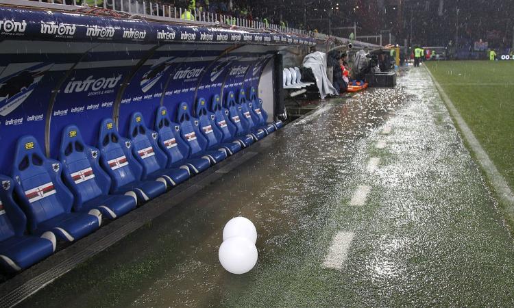 Sampdoria-Roma, sempre più alto il rischio rinvio: attesa per il bollettino