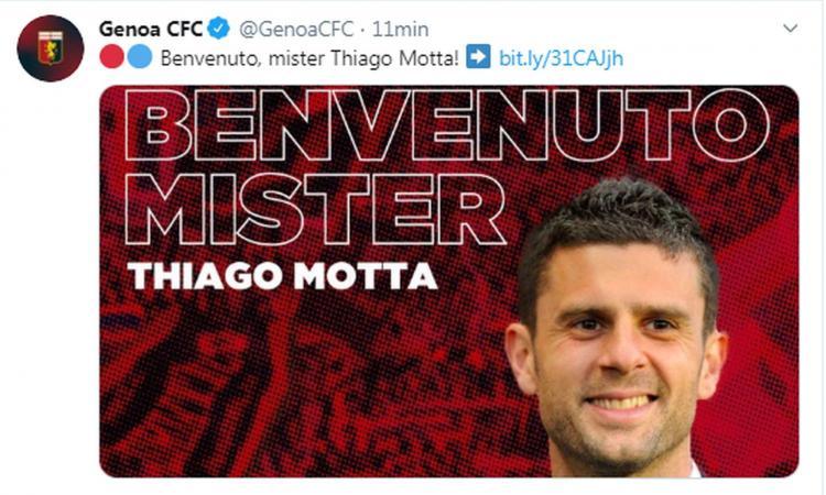 Genoa, UFFICIALE: Thiago Motta è il nuovo allenatore VIDEO