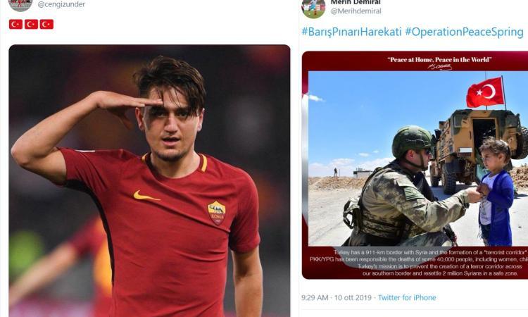 Demiral, Under e Calhanoglu sono soldati volontari: i club li lasciano liberi di fare propaganda?