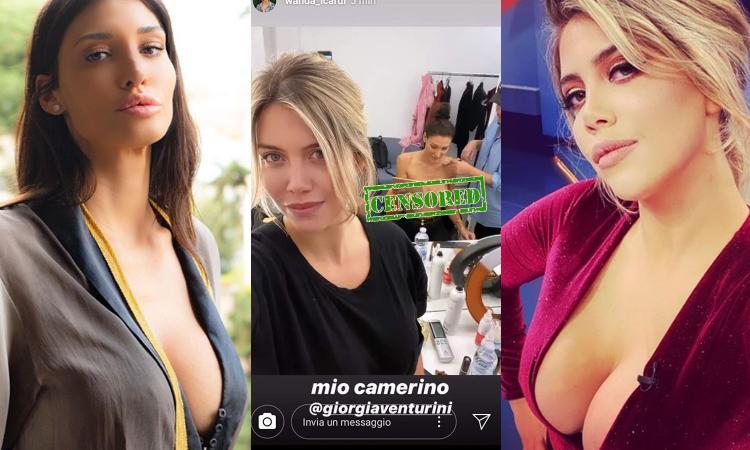 Wanda che combini? Pubblica una foto in topless di Giorgia Venturini nei camerini di Tiki Taka FOTO