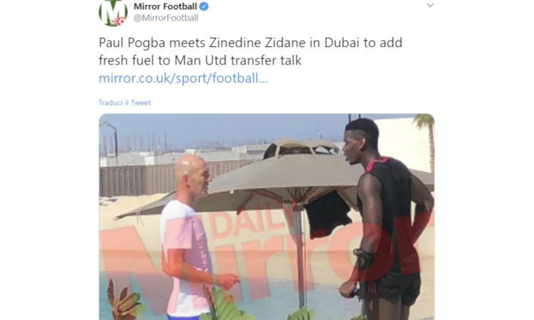 Zidane sull'incontro con Pogba a Dubai: 'Solo un caso' FOTO e VIDEO