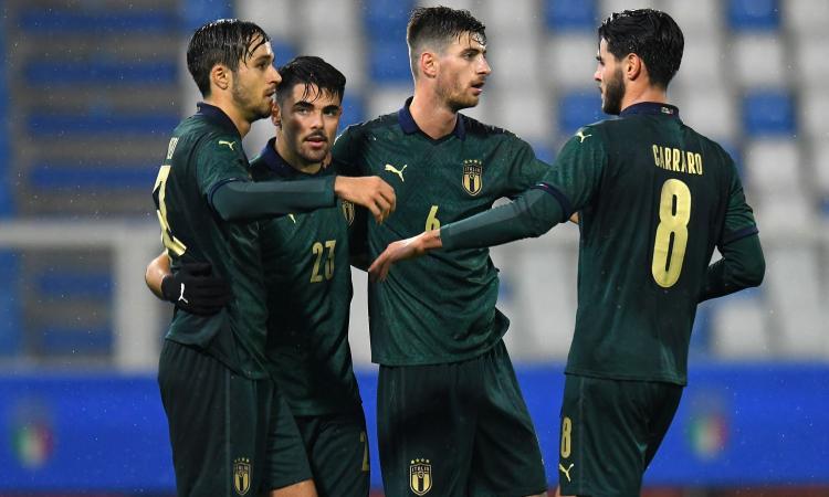 Under 21: Sottil e doppio Cutrone, l'Italia batte e scavalca l'Islanda