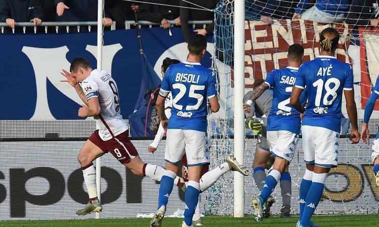 Il Torino torna a vincere: 4-0 al Brescia, l'esordio di Grosso è un disastro