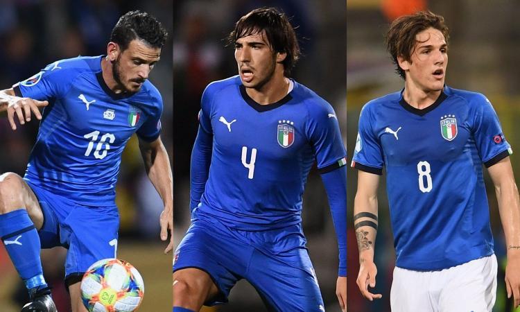 Italia, da Florenzi a Zaniolo e Tonali: ultime chiamate per Euro2020