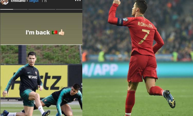 Caso Ronaldo, lui ribatte: 'I'm back'. E in nazionale segna più che con la Juve