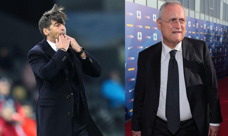 Fonseca e Lotito: ora Roma e Lazio sono le squadre più belle d'Italia