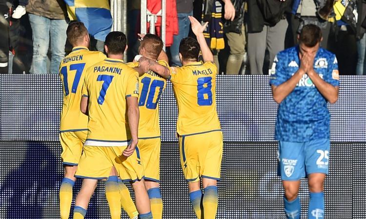 Serie B: il Pordenone non vince più, Crotone secondo. Vola il Frosinone, lo Spezia espugna Perugia: 0-3!