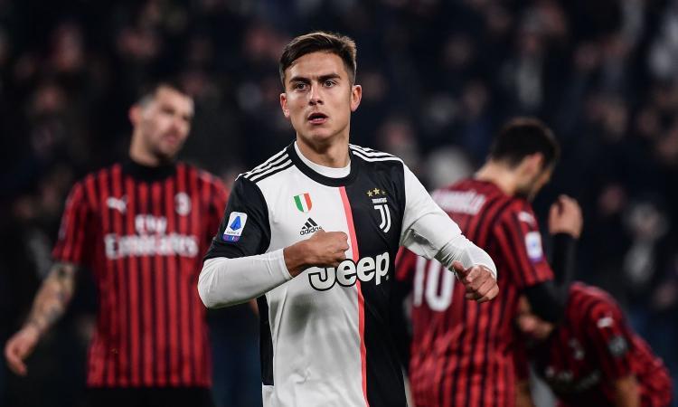 La Juve vince e torna prima: Dybala manda ko un buon Milan