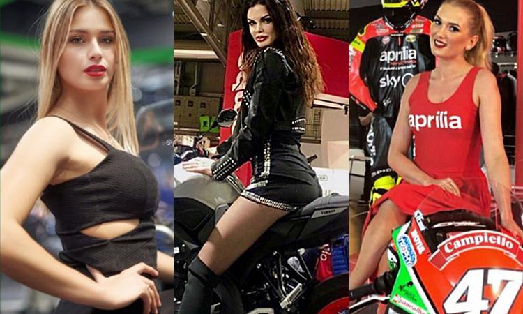 Dal calciomercato alle moto: Paulina, Giorgia e le ragazze di Eicma FOTO