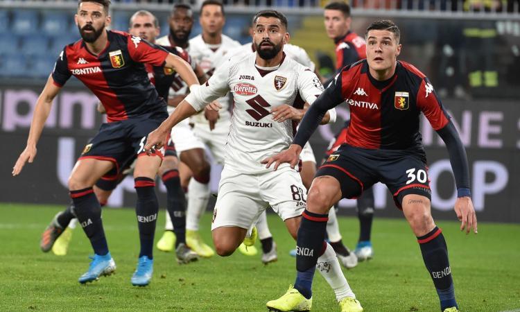 Genoa-Torino 0-1: il tabellino