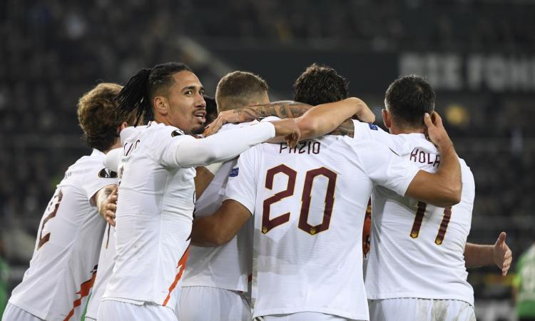Borussia Monchengladbach-Roma, le pagelle di CM: Fazio fa e disfa. Dzeko esausto