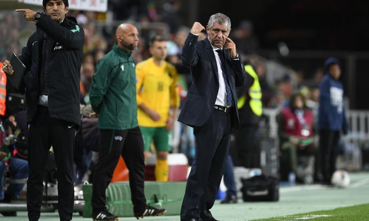 Santos, frecciata a Sarri: 'Ronaldo? La prestazione mette fine a dubbi sulle sue condizioni. Io non ne avevo'