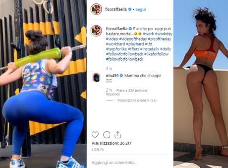 Raffaella Fico scolpisce il lato B in palestra. Balotelli senza freni: 'Mamma che chiappe!' FOTO