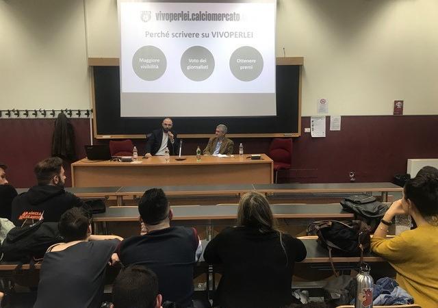 Calciomercato.com porta VivoPerLei tra gli studenti de La Sapienza: ieri i primi incontri a Roma FOTO