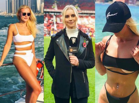Manchester United: tutti in tv per Kirsty FOTO e VIDEO