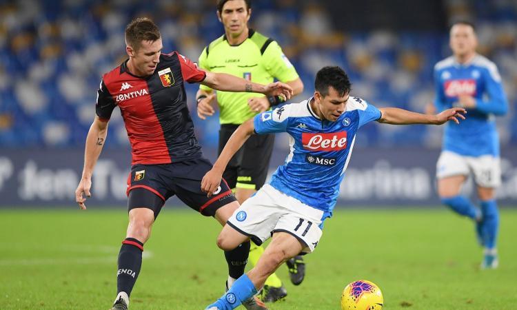 Napoli-Genoa 0-0: il tabellino