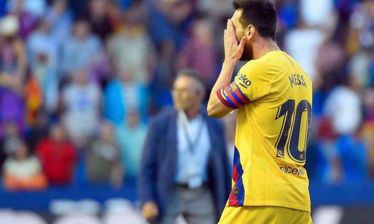 Messi sonnecchia, il Barcellona crolla. E il calcio fisico del Levante sovrasta il tiki taka