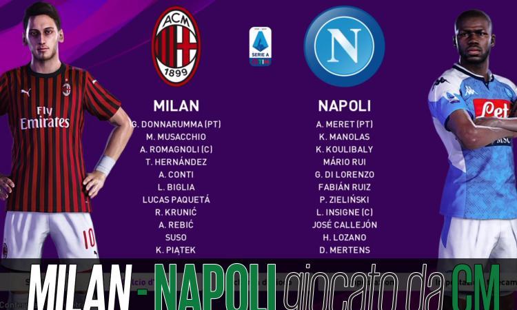 Milan-Napoli, giocata a PES: fra proteste e gufate per chi è finita la crisi?