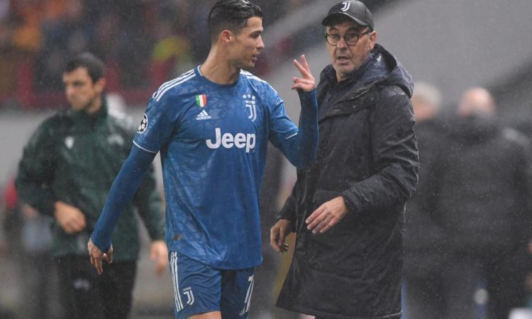 Juve, incontro tra Ronaldo e Sarri