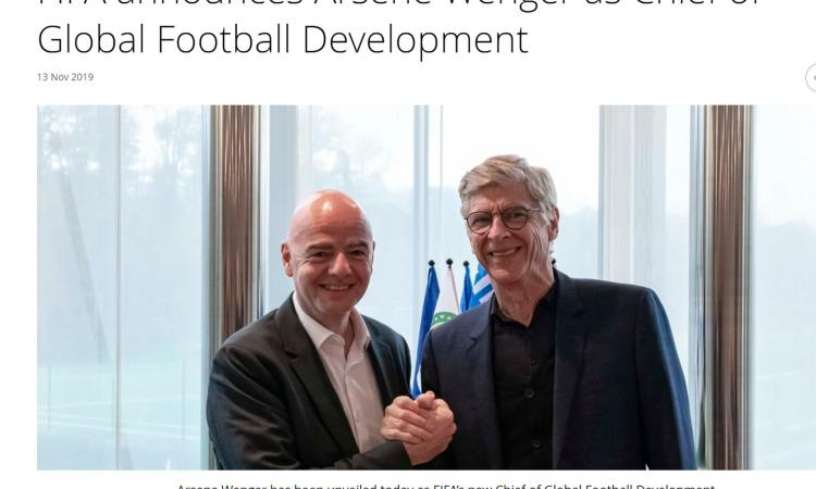 Fifa, Infantino accoglie Wenger: 'Benvenuto a casa' VIDEO