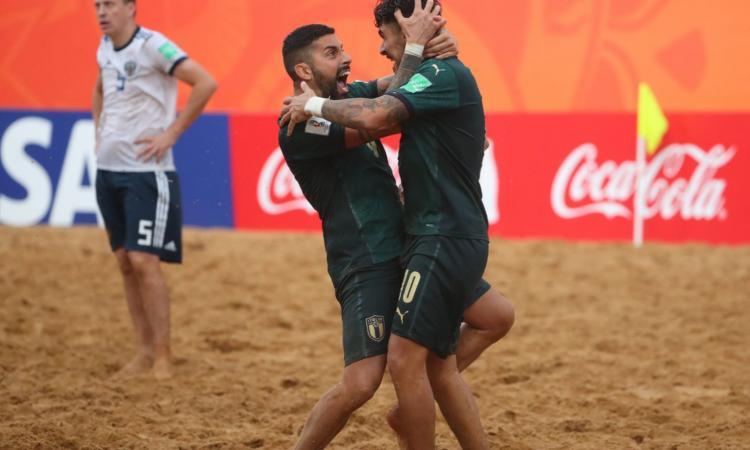 Beach soccer: Gori e Zurlo trascinano l'Italia, gol dedicato al cugino scomparso
