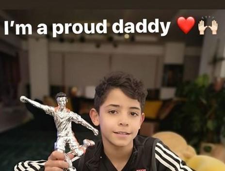Juve, premiato il figlio di Ronaldo: 'Orgoglioso' FOTO