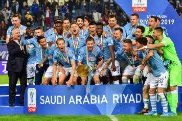 Lazio Supercoppa Italiana esultanza
