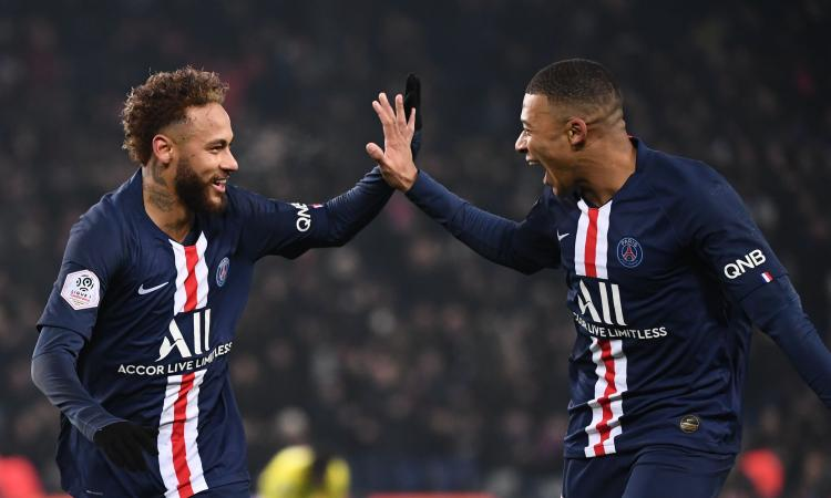 Ligue 1: Mbappé col tacco e Neymar, il PSG vince 2-0. Monaco e Saint-Etienne ok VIDEO