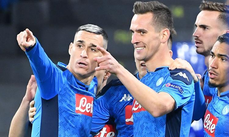 Tripletta Milik, il Napoli passeggia: 4-0 al Genk, azzurri secondi nel girone