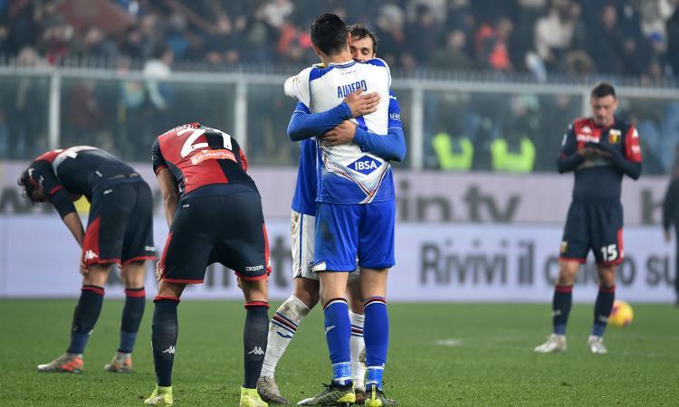 Gabbiadini entra e decide il derby: Genoa-Samp 0-1, rischia Thiago Motta
