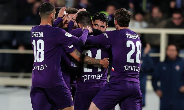 Coppa Italia: Benassi salva Montella, Fiorentina-Cittadella 2-0. Ora c'è l'Atalanta