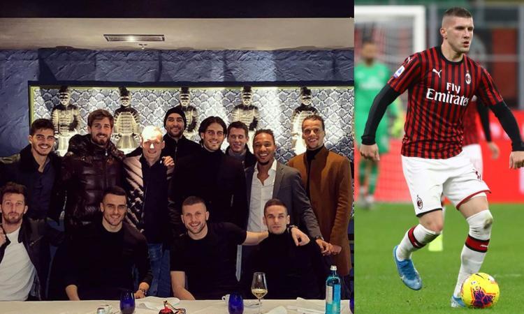 Milan, Rebic cena con gli ex compagni dell'Eintracht. Hutter svela: 'Sicuramente tornerà, ma non so quando'
