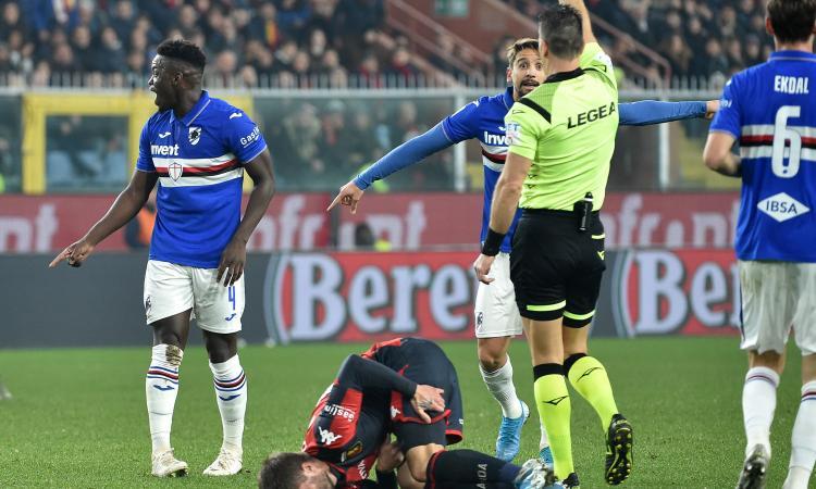 Serie A, rivivi la moviola: il Var toglie un rigore al Napoli. Pugno di Romero a Quagliarella?