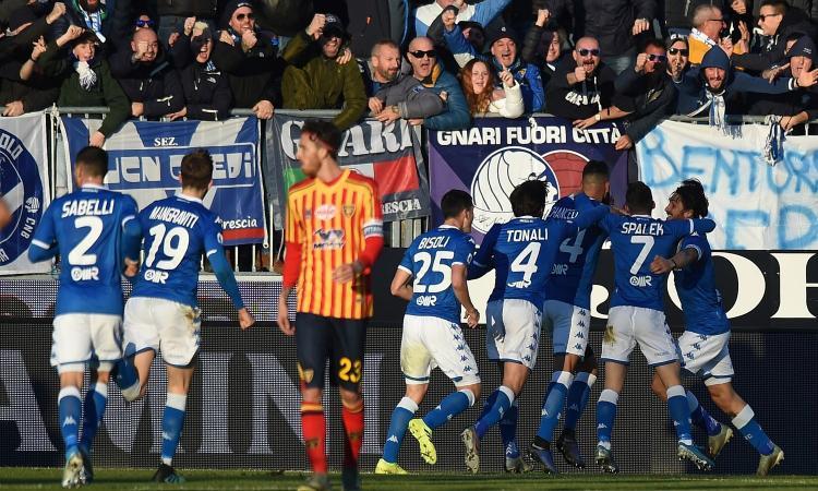 Liverani gioca con paura, Corini no e salverà il Brescia. Sabelli sembra Zanetti e basta ad annientare il Lecce