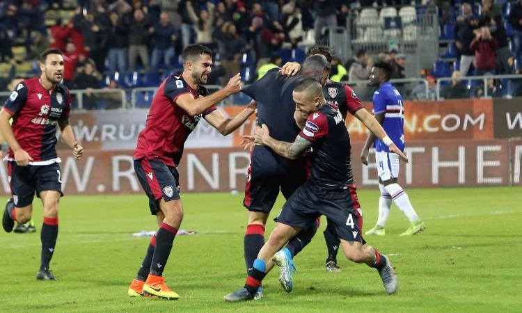 Cagliari, notte da sogno! Ribaltato il catenaccio Samp con la furia di Nainggolan e Joao Pedro