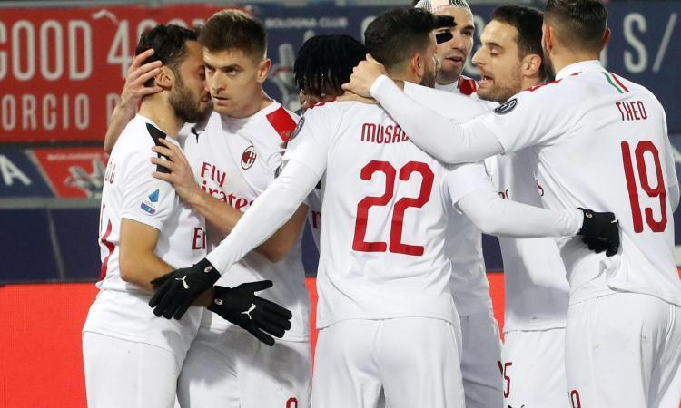 Il Milan vince ancora: 3-2 al Bologna, Pioli a -1 dal Napoli