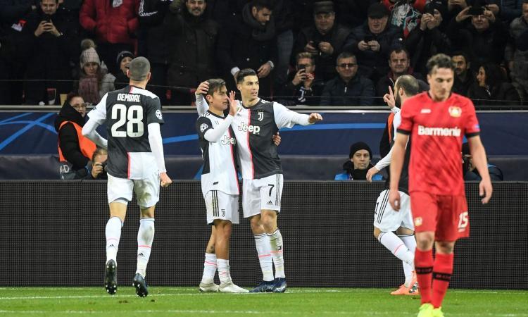 La Juve vince a Leverkusen: Ronaldo e Higuain mandano il Bayer in Europa League