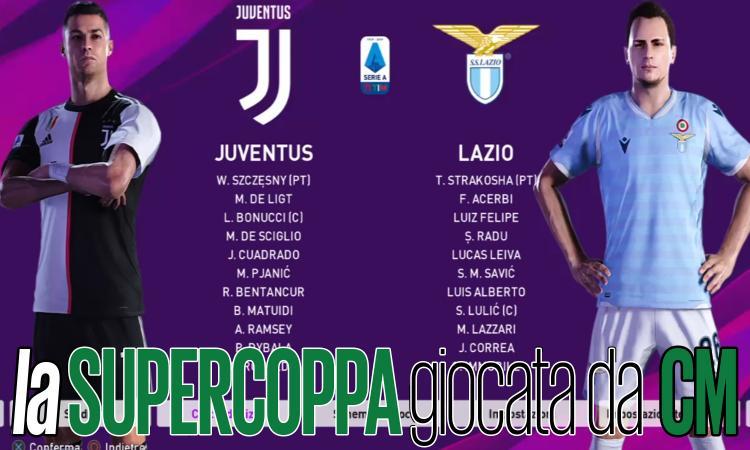 Juve-Lazio, la Supercoppa a PES: le Ronaldo airlines, un palo e maglioni al top, chi alza la coppa?