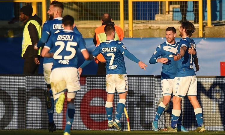 Il Brescia vince la prima in casa: tris al Lecce con Chancellor, Torregrossa e Spalek