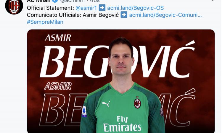 Begovic: 'Un onore essere al Milan. Donnarumma tra i più forti al mondo, Ibrahimovic leader'